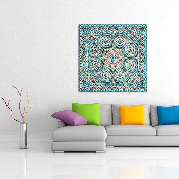 tableau oriental mosa que rosace d coration orientale arjazia. Black Bedroom Furniture Sets. Home Design Ideas