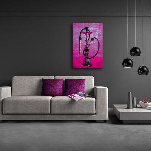 tableau oriental chicha toile orientale d coration orientale arjazia. Black Bedroom Furniture Sets. Home Design Ideas