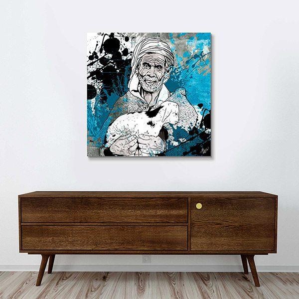 tableau oriental le berger toile orientale d coration orientale arjazia. Black Bedroom Furniture Sets. Home Design Ideas