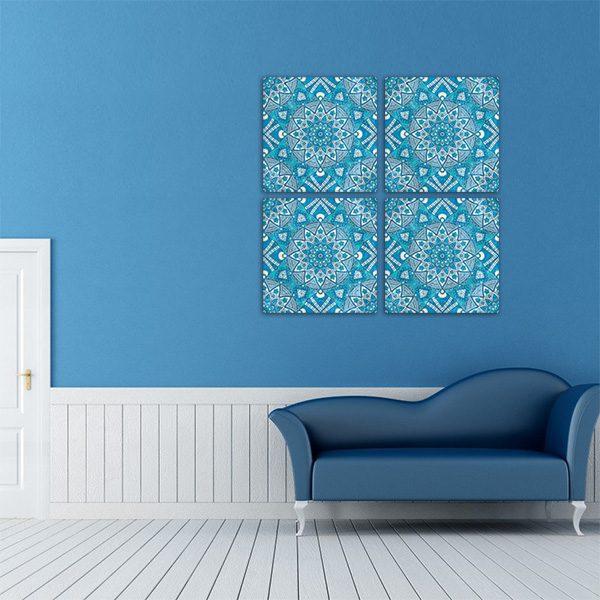 tableau oriental mosa que fleur d coration orientale arjazia. Black Bedroom Furniture Sets. Home Design Ideas