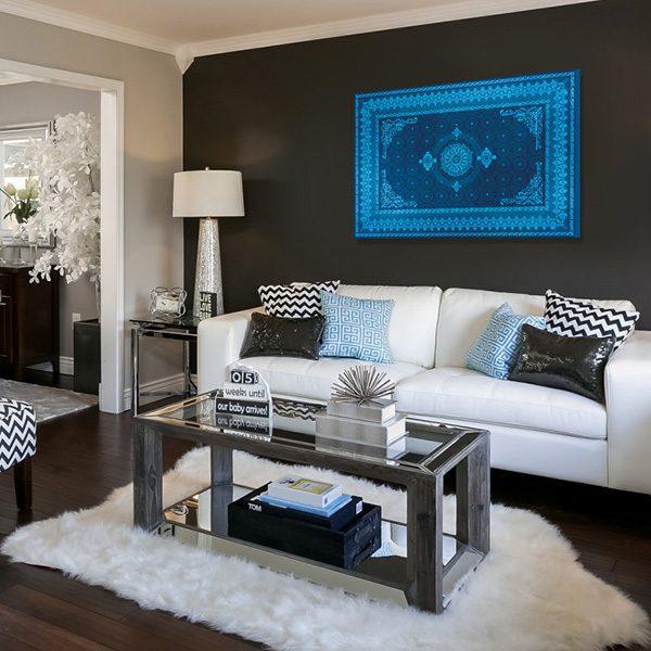 deco orientale bleu. Black Bedroom Furniture Sets. Home Design Ideas