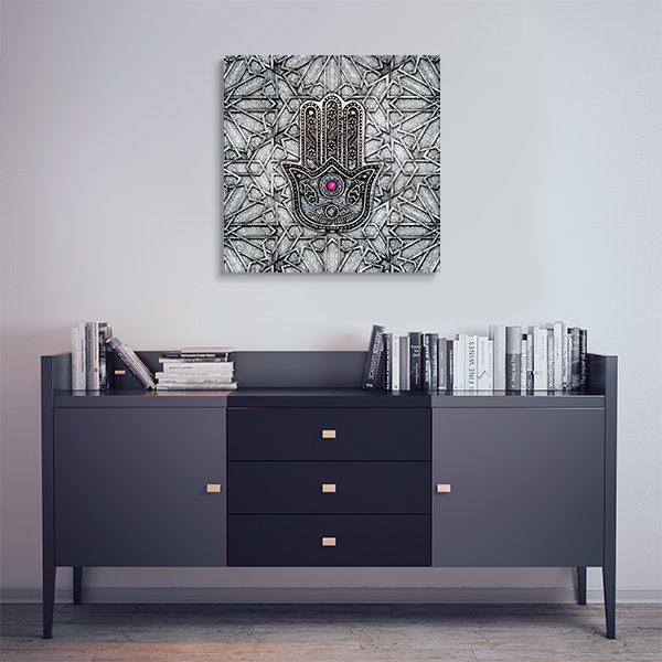 tableau oriental main de fatma d coration orientale arjazia. Black Bedroom Furniture Sets. Home Design Ideas