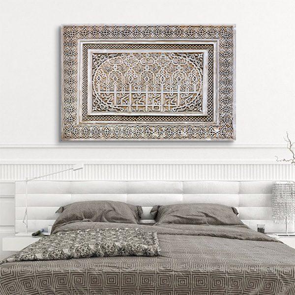 tableau oriental ornement bas relief d coration. Black Bedroom Furniture Sets. Home Design Ideas