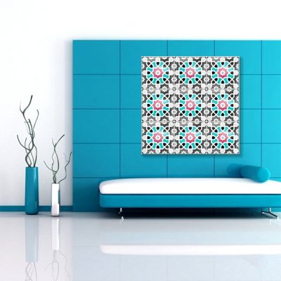 tableau oriental mosa que toile orientale d coration orientale arjazia. Black Bedroom Furniture Sets. Home Design Ideas