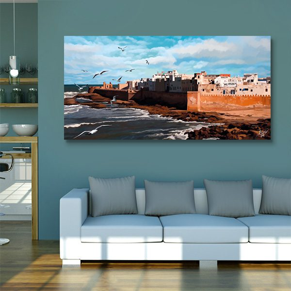 tableau oriental essaouira toile orientale d coration orientale arjazia. Black Bedroom Furniture Sets. Home Design Ideas