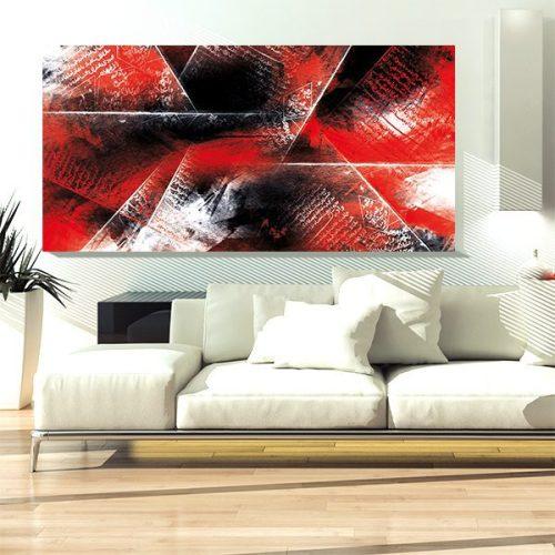 tableau oriental abstrait rouge et noir d coration orientale arjazia. Black Bedroom Furniture Sets. Home Design Ideas