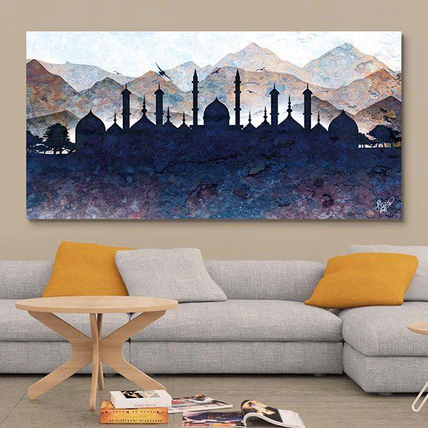tableau oriental paysage silhouette d coration orientale arjazia. Black Bedroom Furniture Sets. Home Design Ideas