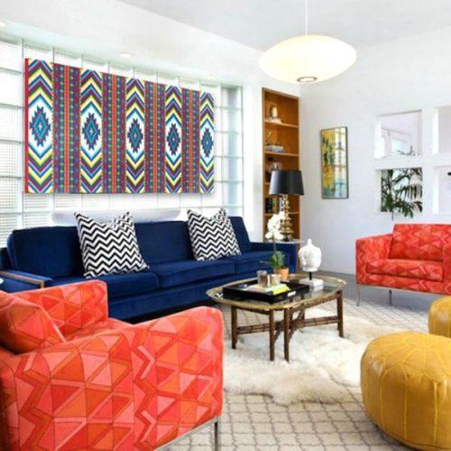 tableau oriental tapis motif berb re d coration orientale arjazia. Black Bedroom Furniture Sets. Home Design Ideas