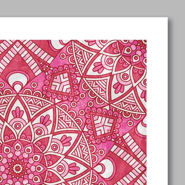 poster oriental mosa que fleur d coration orientale. Black Bedroom Furniture Sets. Home Design Ideas