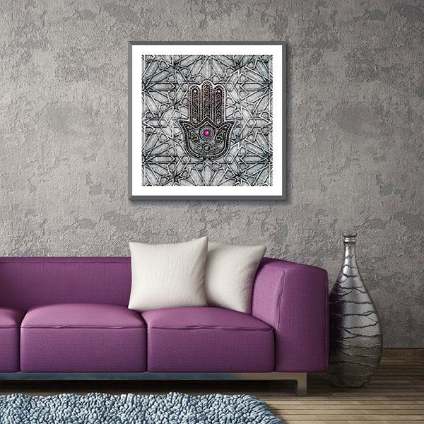 poster oriental main de fatma d coration orientale moderne arjazia. Black Bedroom Furniture Sets. Home Design Ideas