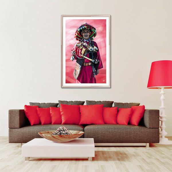 Poster oriental porteur d 39 eau tableau oriental toile for Poster porte orientale