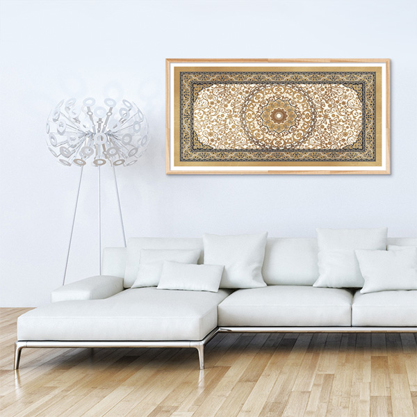 poster oriental tapis beige toile orientale d coration orientale arjazia. Black Bedroom Furniture Sets. Home Design Ideas